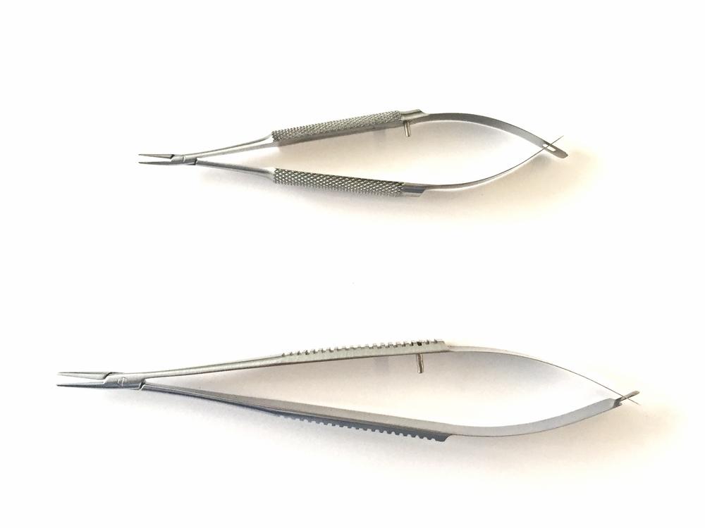 Diverse micro chirurgische naaldvoerders