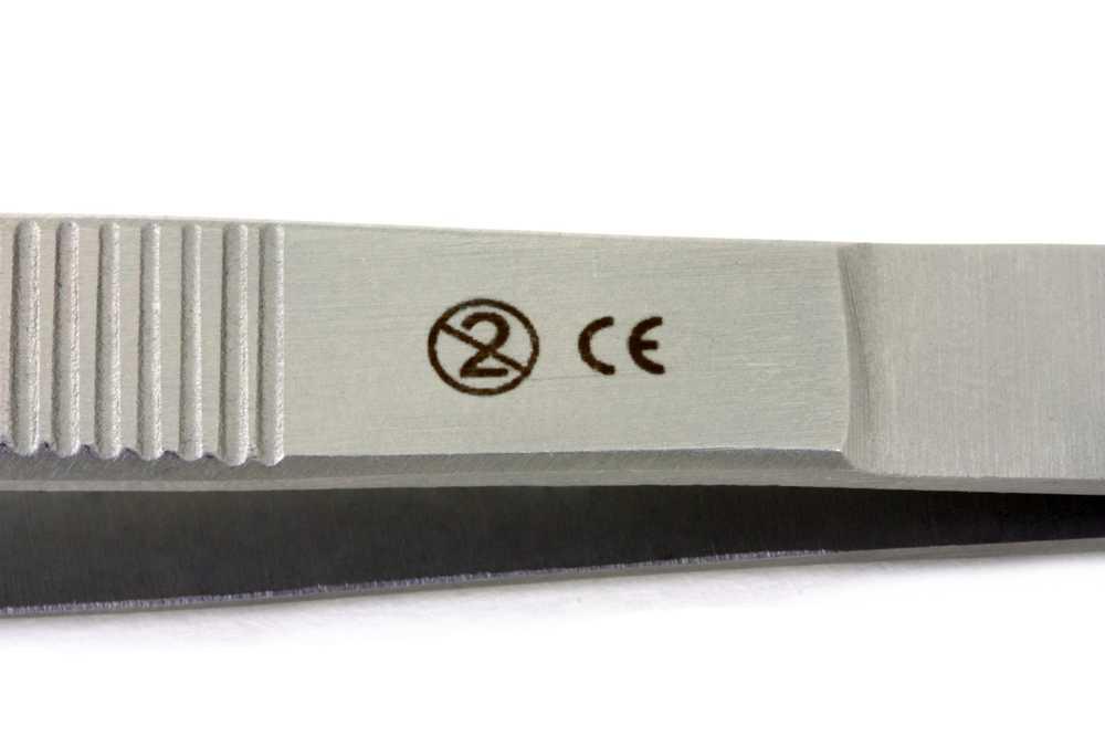 Alle disposable rvs instrumenten zijn voorzien van CE markering en single use sign