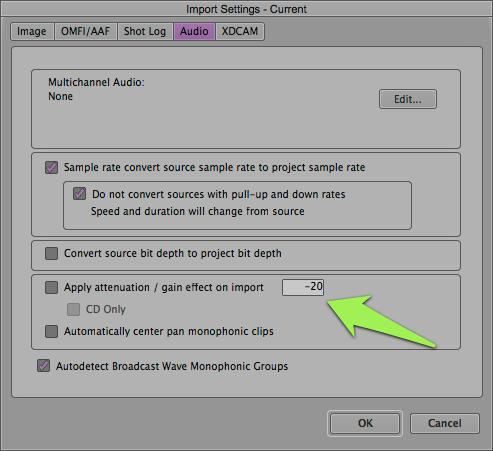 Import Dialog box