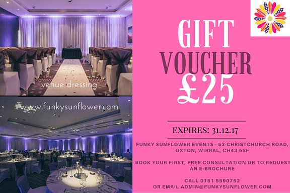 venue dressing gift voucher