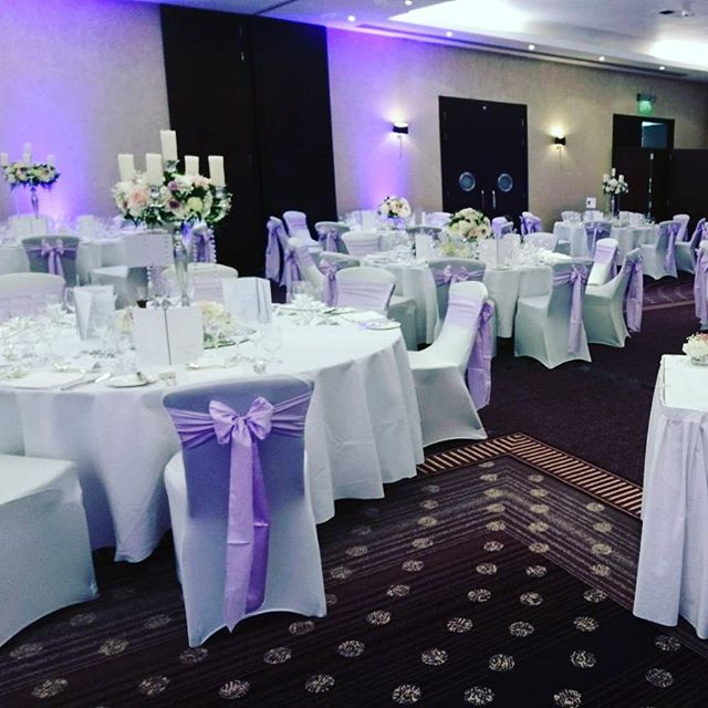 Our new lilac satin sashes look fabulous at @chestergrosvenor ❤ #weddingday #chaircovers #weddingbants #venuedecor #venuedresser #lilac #getfunked