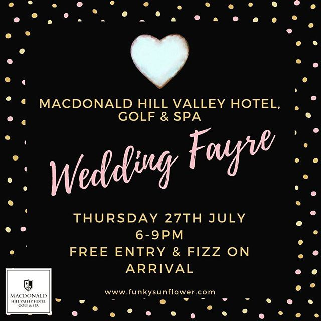 Very much looking forward to this evening #weddingfayre at the Hill Valley hotel in #Whitchurch next month. Stands are now available for local wedding suppliers to showcase themselves. Email admin@funkysunflower.com :)