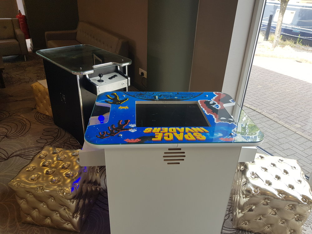 The space invaders - Go retro at your event with these awesome, authentic arcade games. Loaded with 60 games from PacMan to Space Invaders they'll go down a treat with your guests. Single or double machine hire available so for more info or for your free, no obligation quote get in touch here