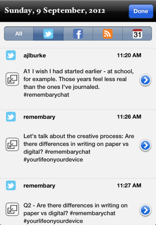 Here's what the chat it looked like in Remembary on my iPhone.