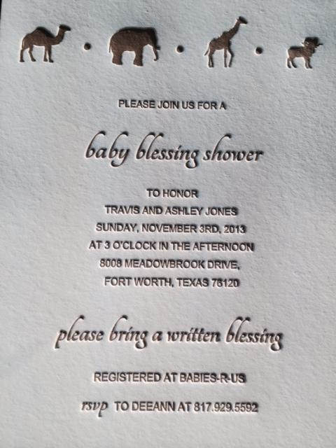Baby Shower Invite Atlantic Press