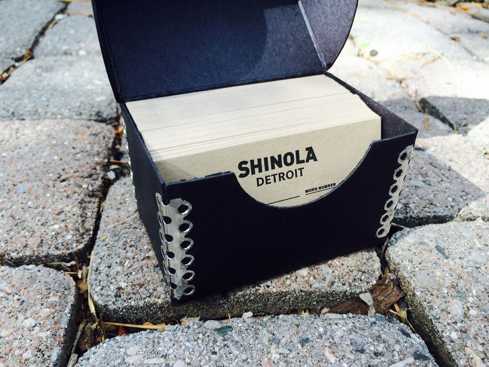 The craft of letterpress printed business cards atlantic press shinola is based in michigan the paper is made by french paper company in michigan the cards are produced in our studio in michigan making this a reheart Gallery