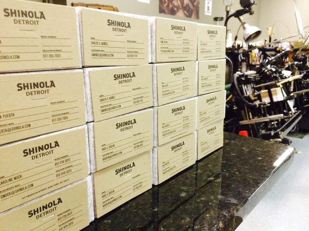 Shinola Business Cards
