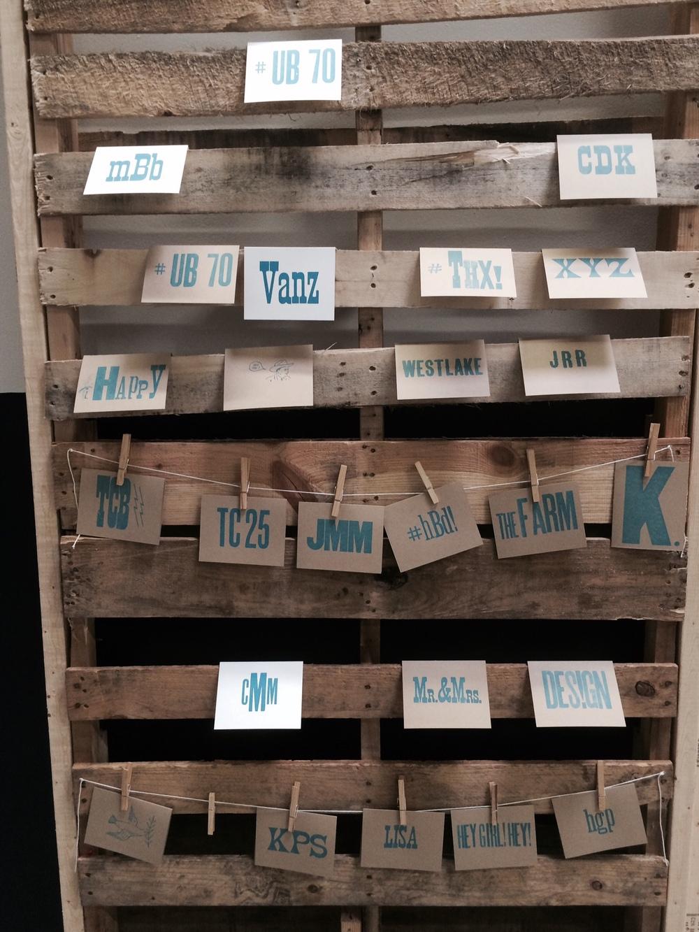 Letterpress Samples