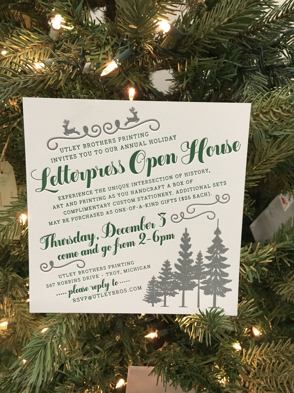 Christmas Letterpress Event was Merry and Bright — Atlantic Press