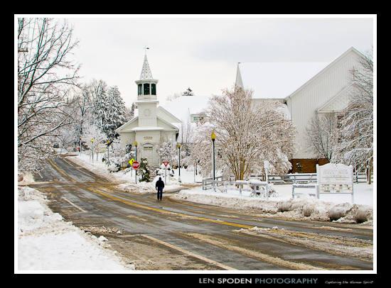 Vienna VA Photographer Vienna Presbyterian Church Snow
