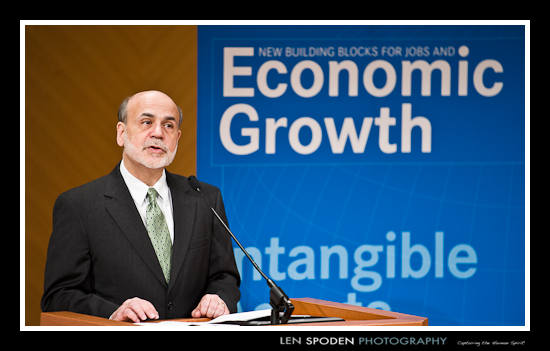 Federal Reserve Chairman Ben Bernanke Photograph by Washington DC Photographer Len Spoden