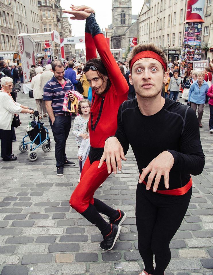 Zach & Viggo performing on The Royal Mile at The Edinburgh Fringe Festival