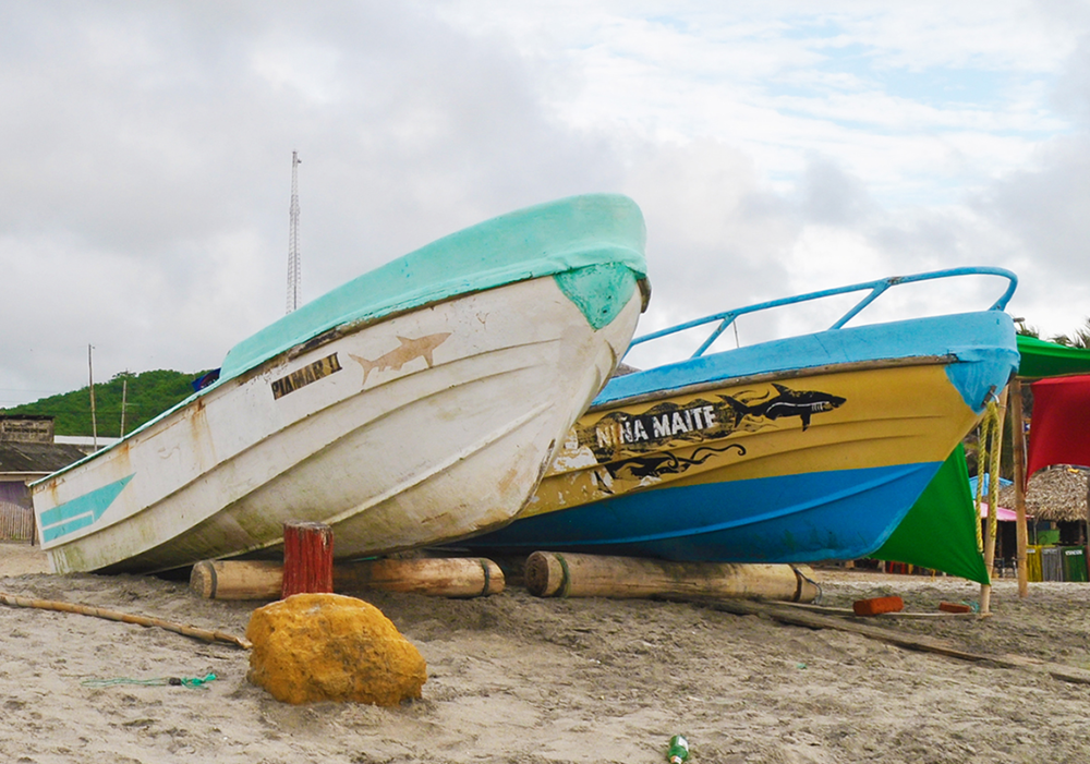 Canoa Beach Fishing Boats