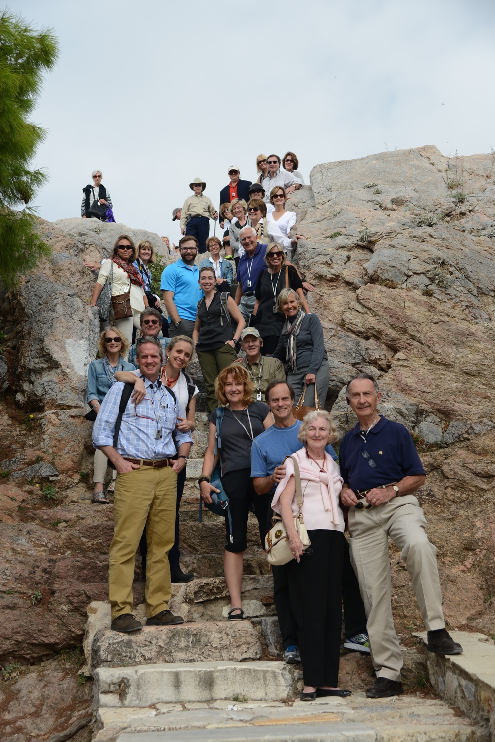 St. George's Pilgrimage in Athens, Greece, walking the steps where St. Paul climbed to the top of Mars Hill (November 2014).