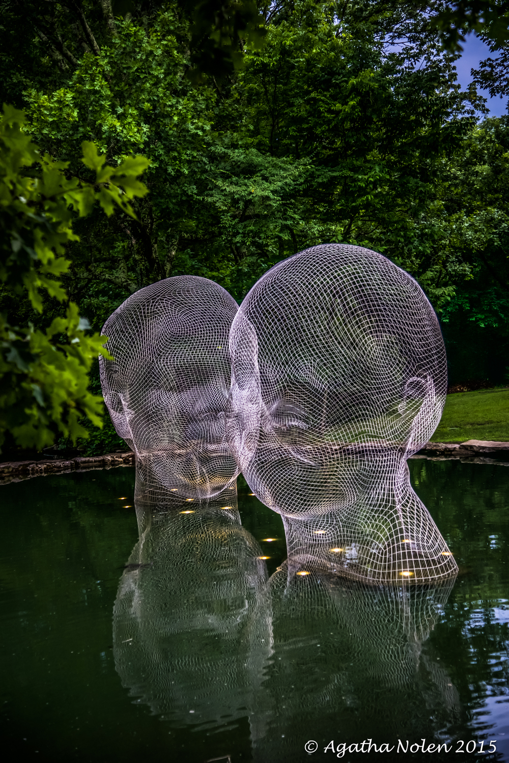 Awilda and Irma (2014) by Jaume Plensa, Cheekwood Botanical Gardens, Nashville, TN, 2015