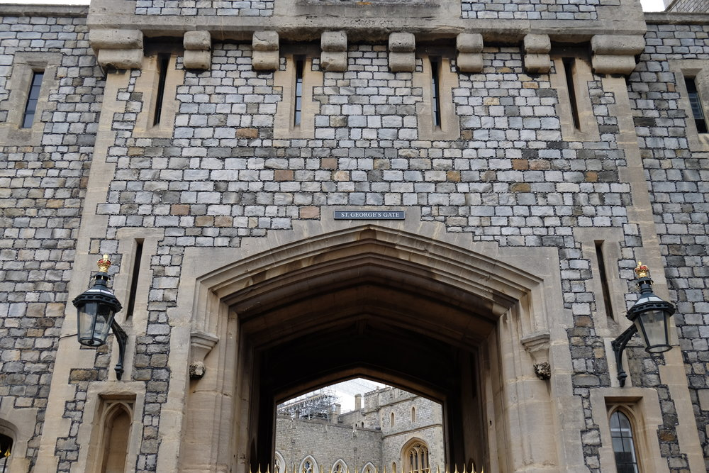 St. George's Gate at the visitor's entrance to Windsor Castle, England