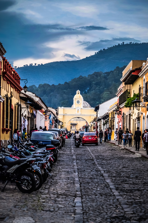 Arco de Santa Catalina, street view, Antigua, Guatemala