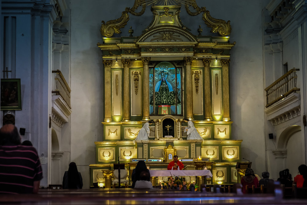 Altar, Templo de la Escuela de Cristo, Antigua, Guatemala