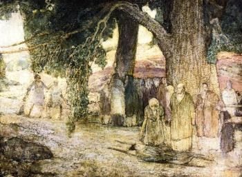 """""""Disciples Healing the Sick"""" Henry Ossawa Tanner (c.1930)"""