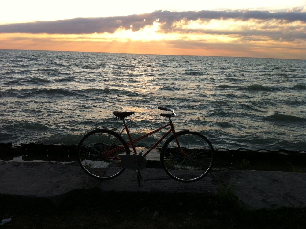 Bicycle at Lake Michigan, Chad Curry