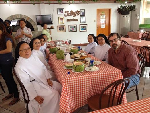 A final lunch with the Dominican Sisters before Matt heads home to the United States.