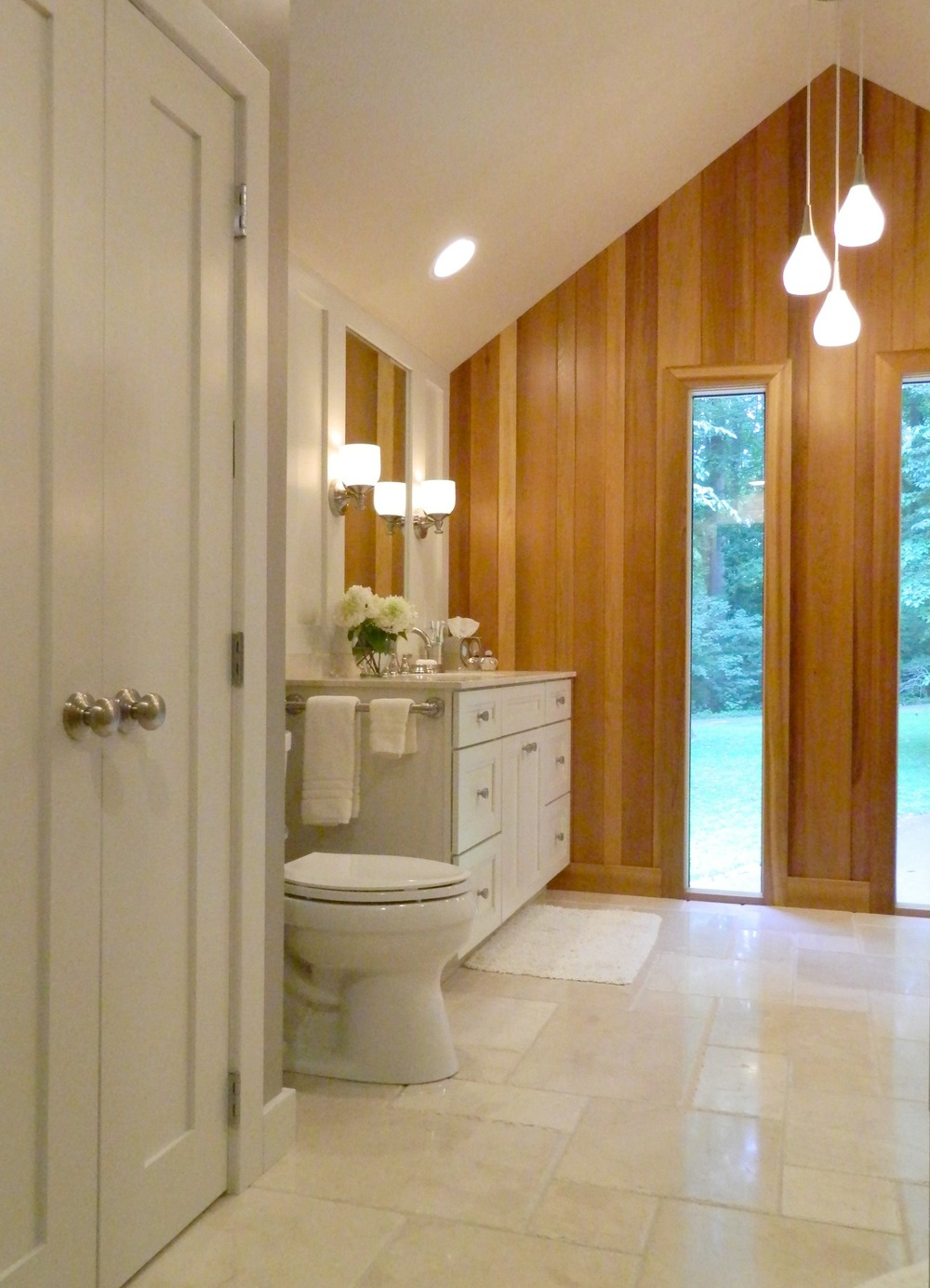 A spacious bathroom.  Something that perhaps you could imagine in your home?