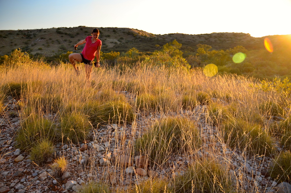 Ronny getting jiggy with the Spinifex.