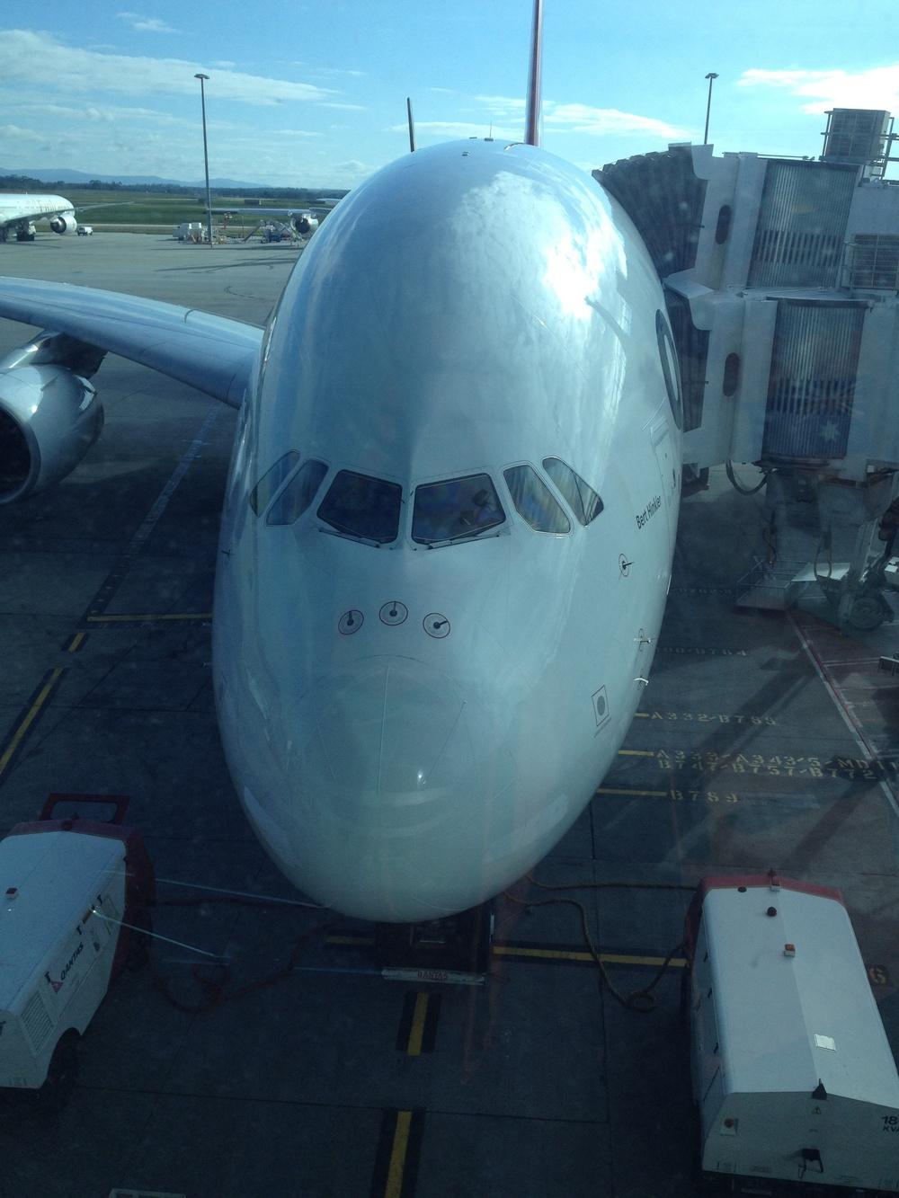 The broken plane.