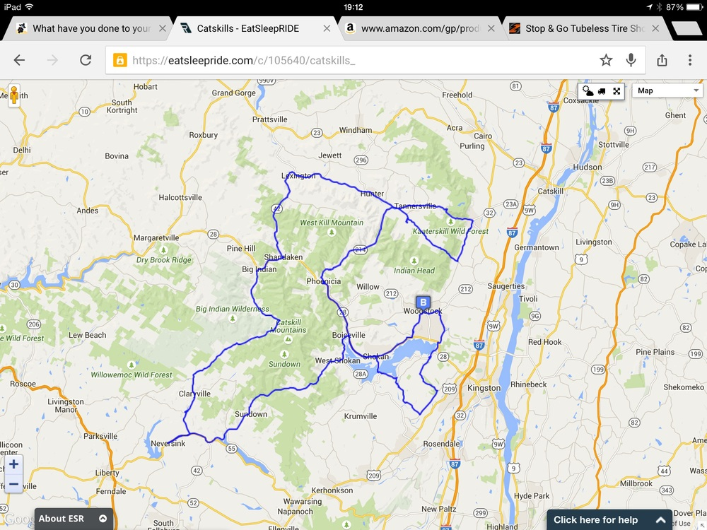 266 km ride today.
