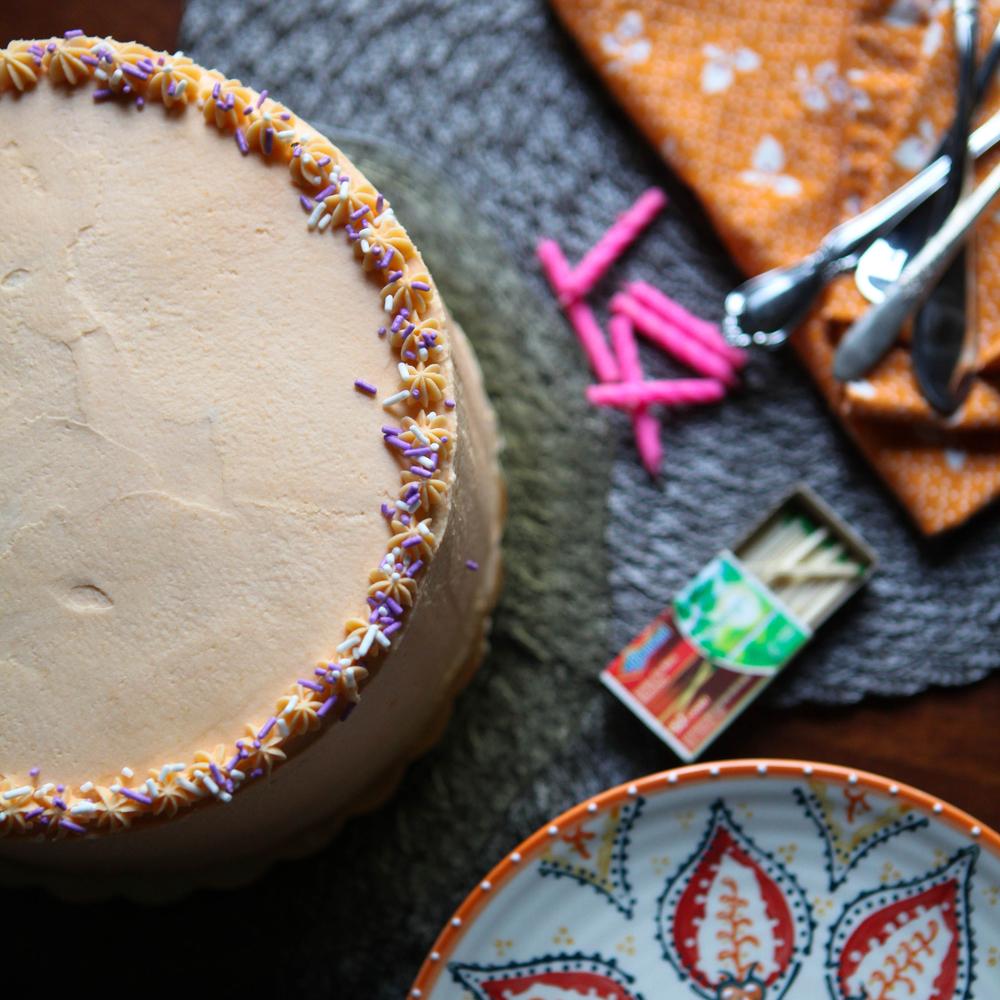 Rosemary Apricot Cake