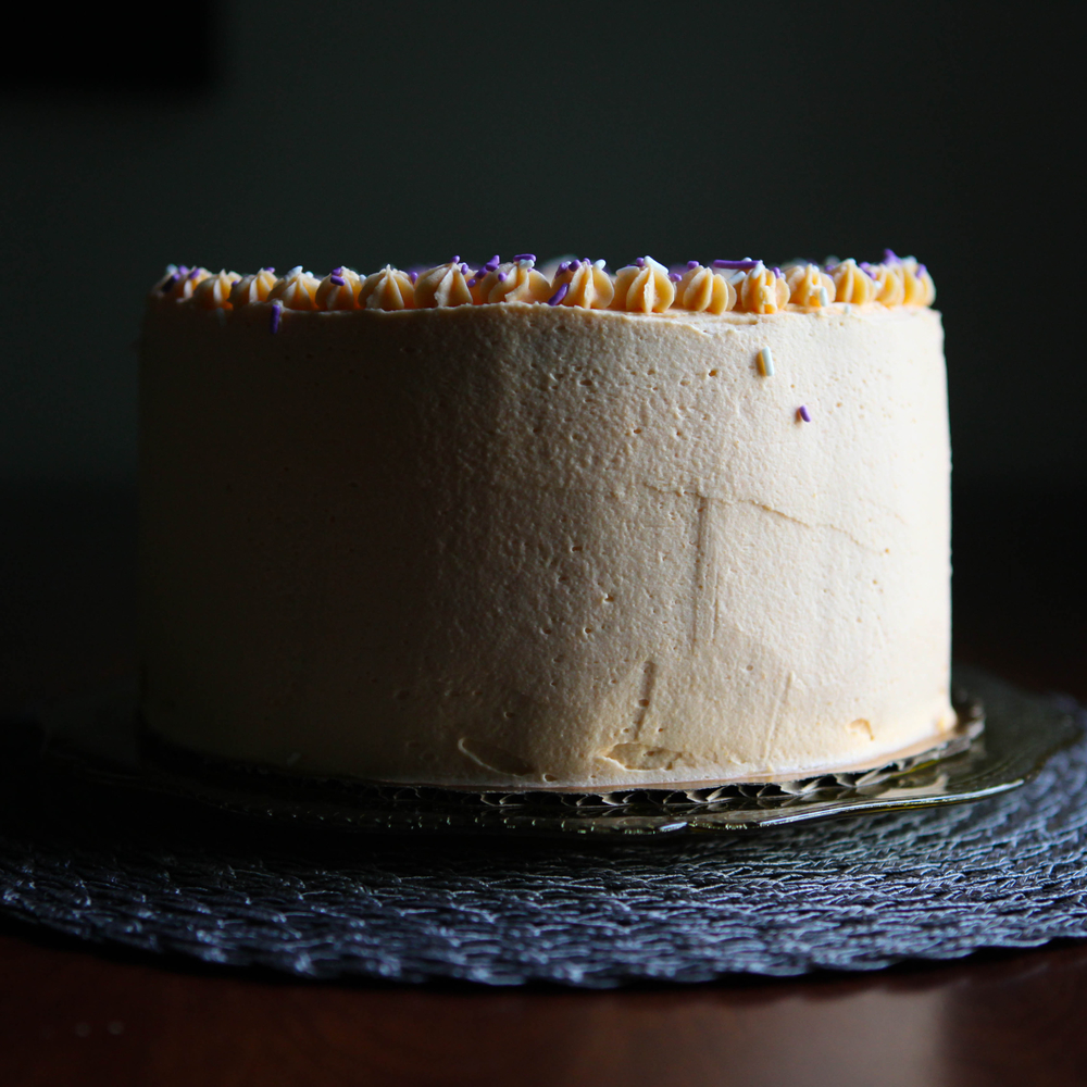 Rosemary Apricot Layer Cake