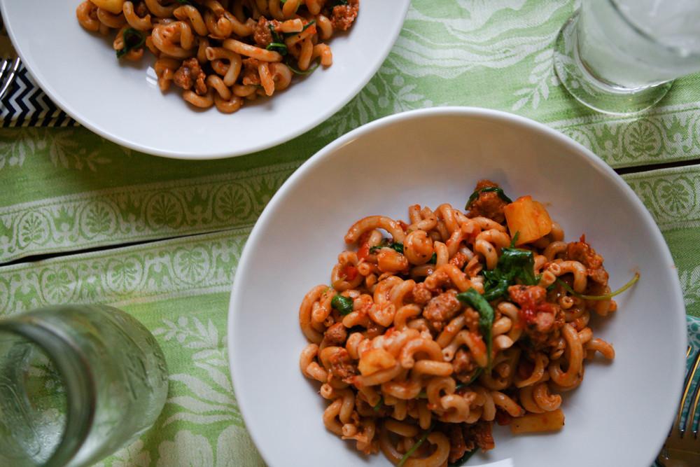 Gluten free pasta dish