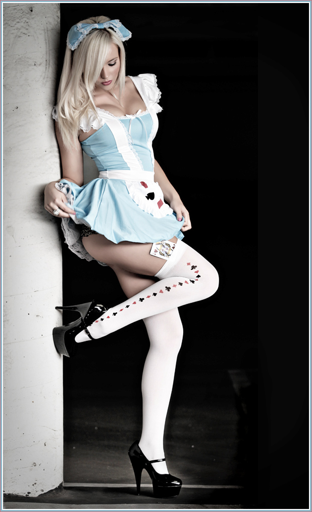 "I like the ""Alice in Wonderland"" feel of this picture and love the Mary Jane heels."