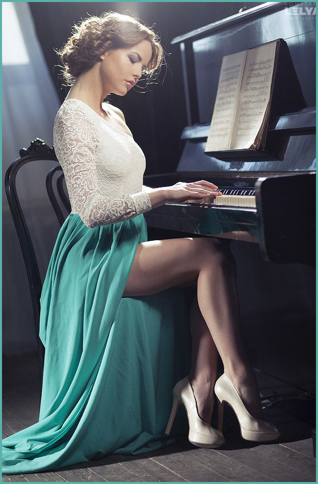 All the best piano playing is done wearing seriously sexy high heels.