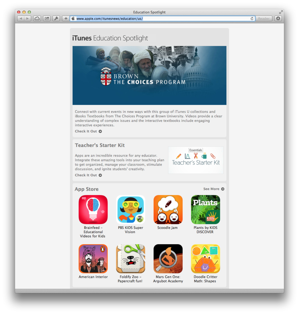 iTunes Education Spotlight featuring Brainfeed — May 26, 2014