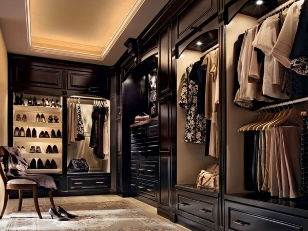 This Mans Closet Has A Spot For All Of His Items And The Small Island Bench In Center Is Great Getting Dressed Packing Trip
