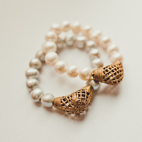Pearl and African Antique Bracelet - $40