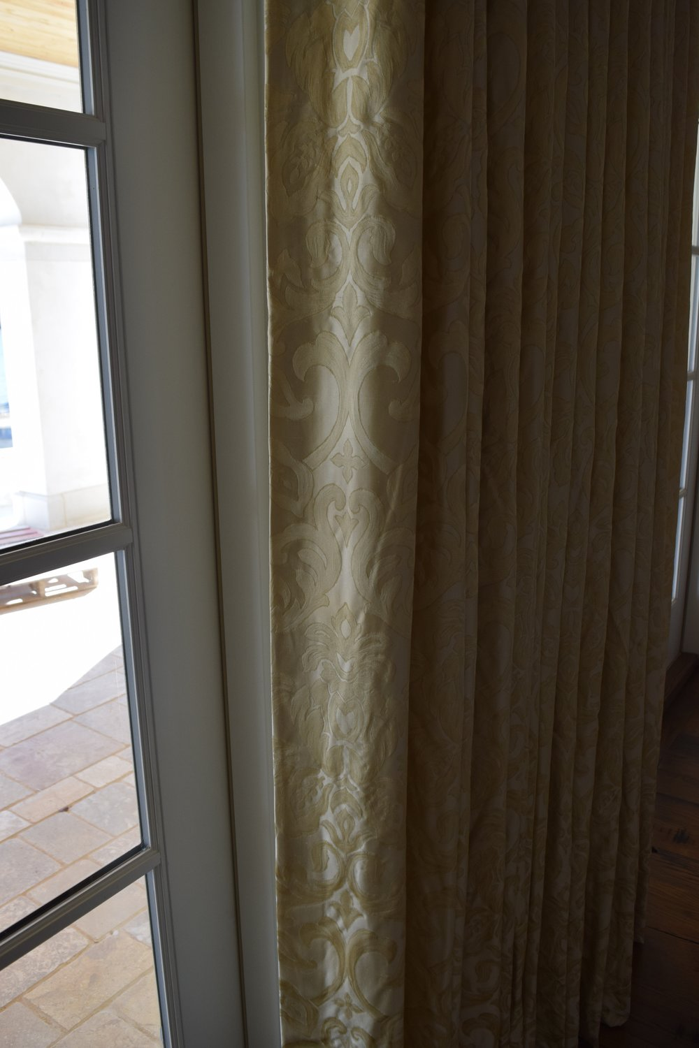 Drapes in Formal Living