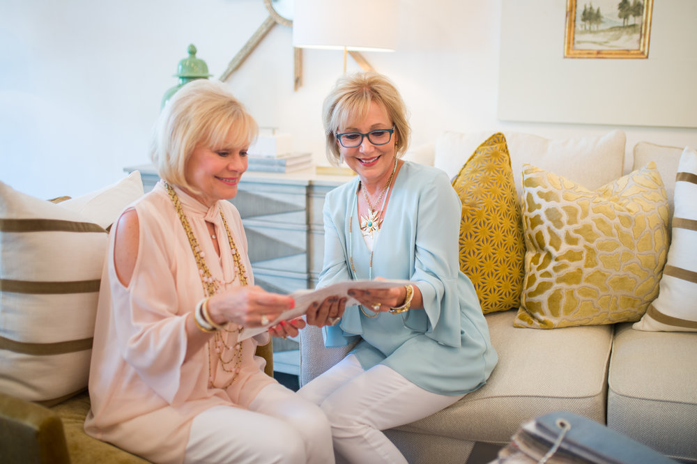 Welcome! I'm Mona &this is my sister Talena - We love sharing our passion for design and hope you enjoy it as well! See some of our behind the scenes of our store, client homes, and more in our online journal.