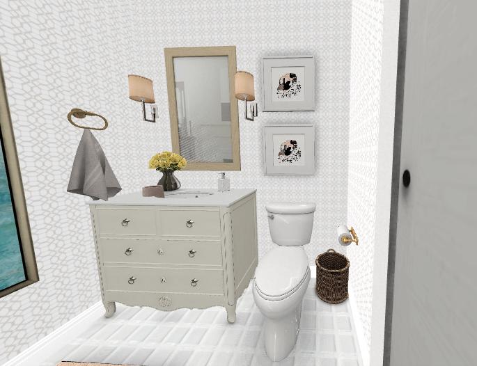 Rendering of Study Bathroom