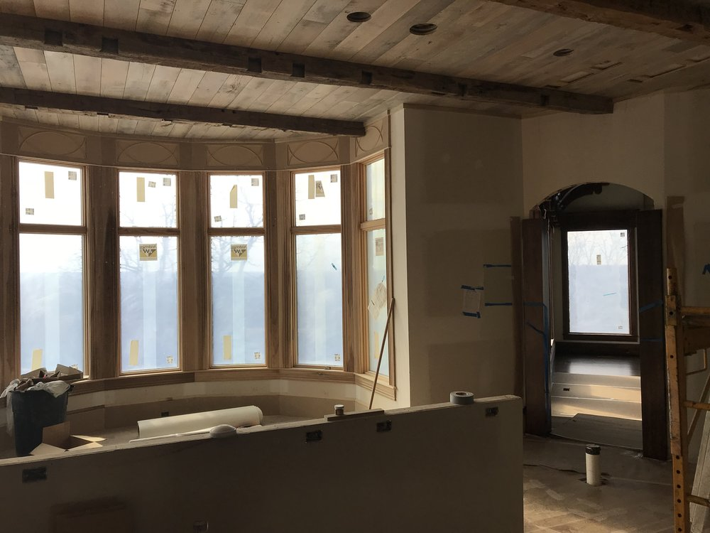 Breakfast Area/ Kitchen looking into Hearth Room (1st Site visit)
