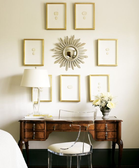 Framed Intaglios  :  Image Via Alison Womack Jowers Interiors