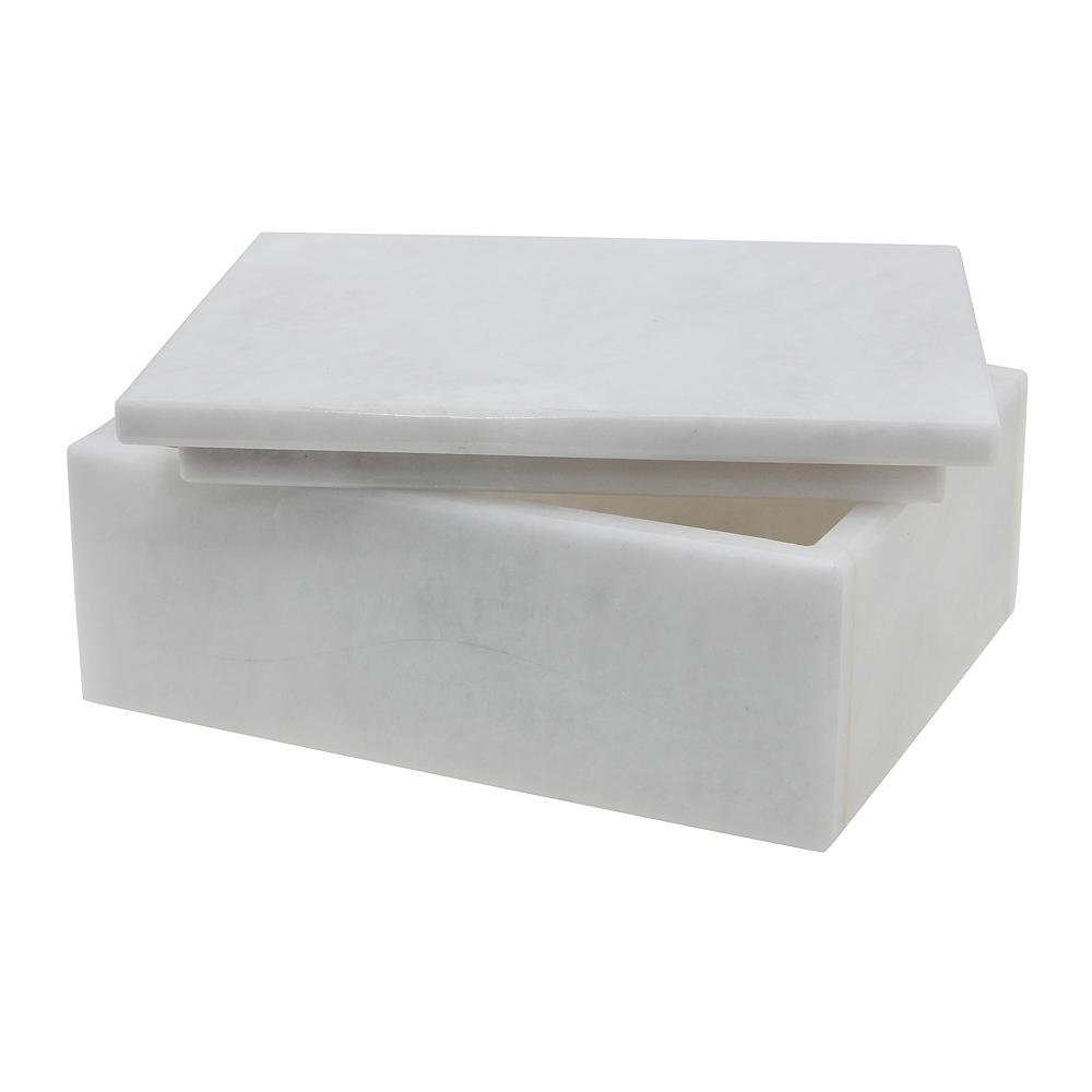 White Marble Keepsake Box - Chairish