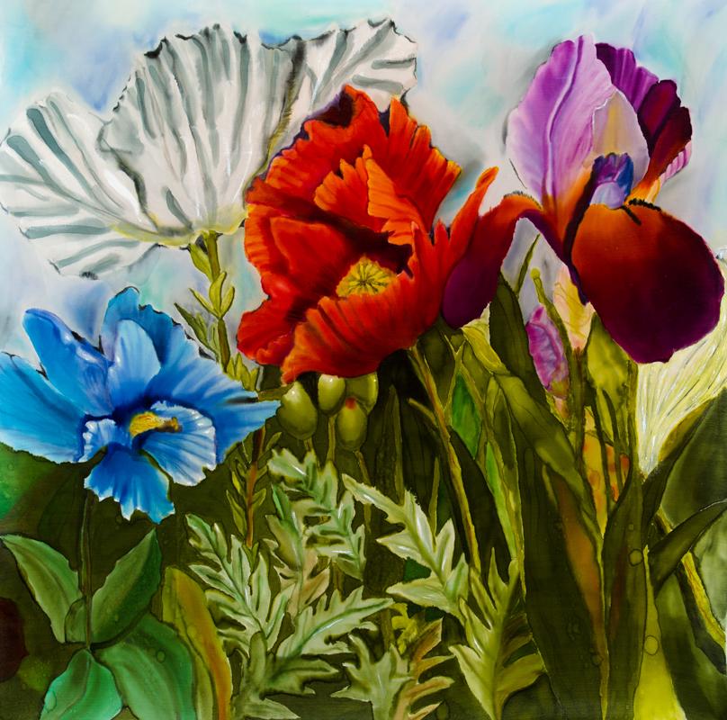 """Garden Flowers  2012, 27""""x29""""    NFS"""