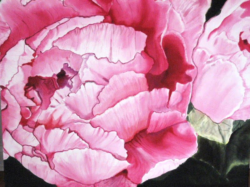 """Large Pink Peony  photograph by Marcee Musgrove  2012, 24""""x30""""  $720"""