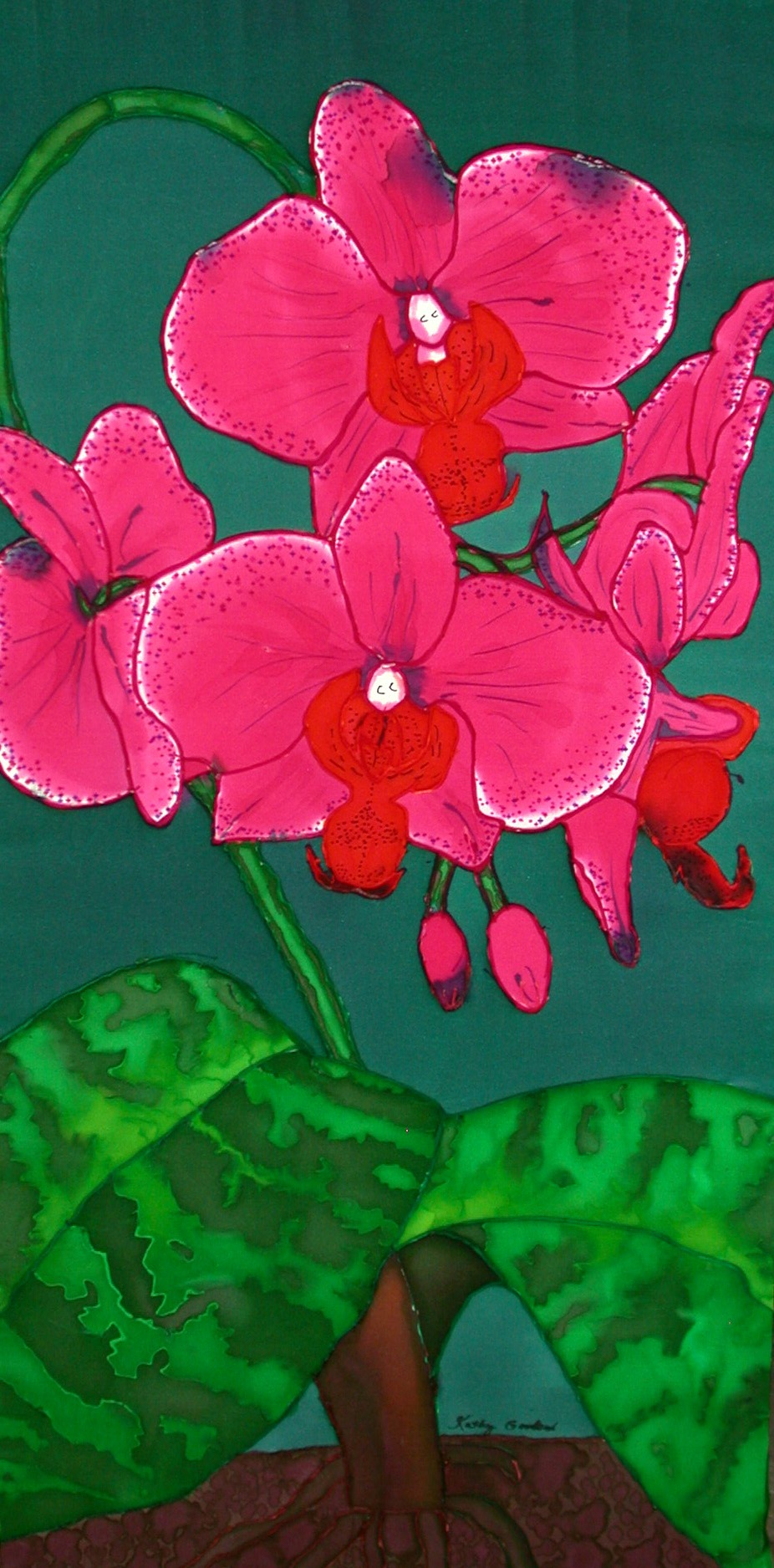 "Pink Orchid  2000, 41""X21""  $720"