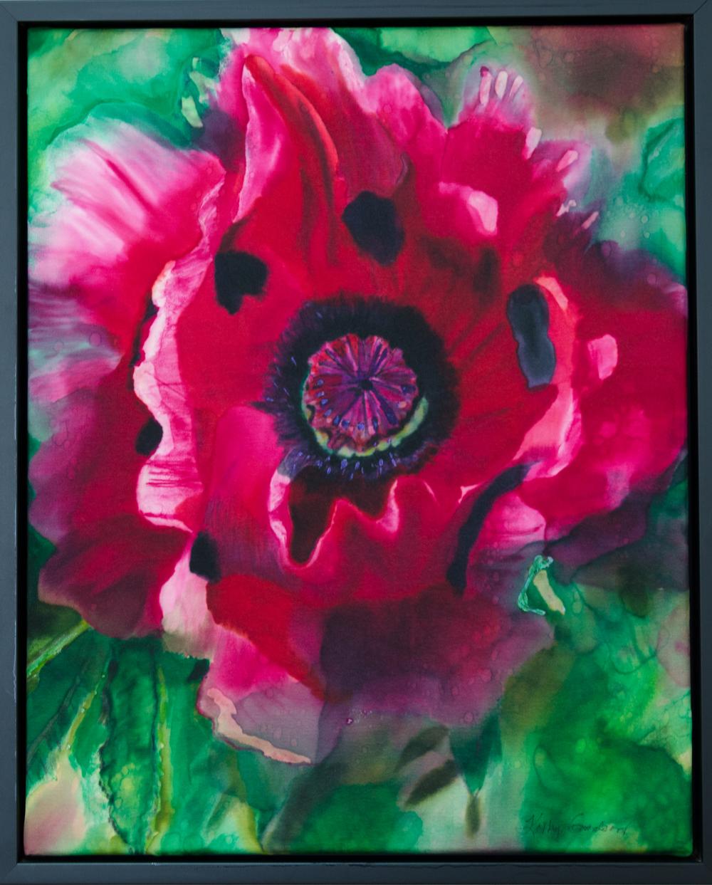"""Pink Oriental Poppy  2013, 16""""x20'  $480"""