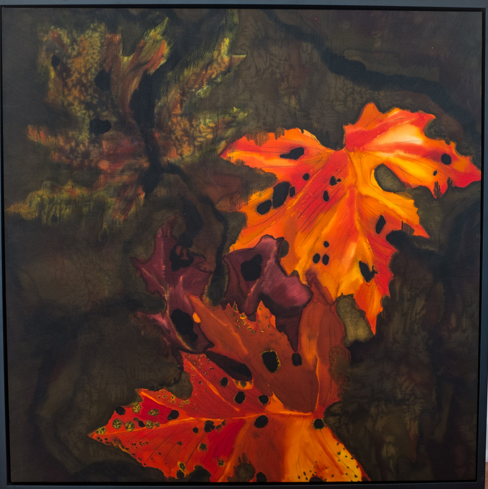 "Fall Maple Leaves  2013, 30""X30""   SOLD"