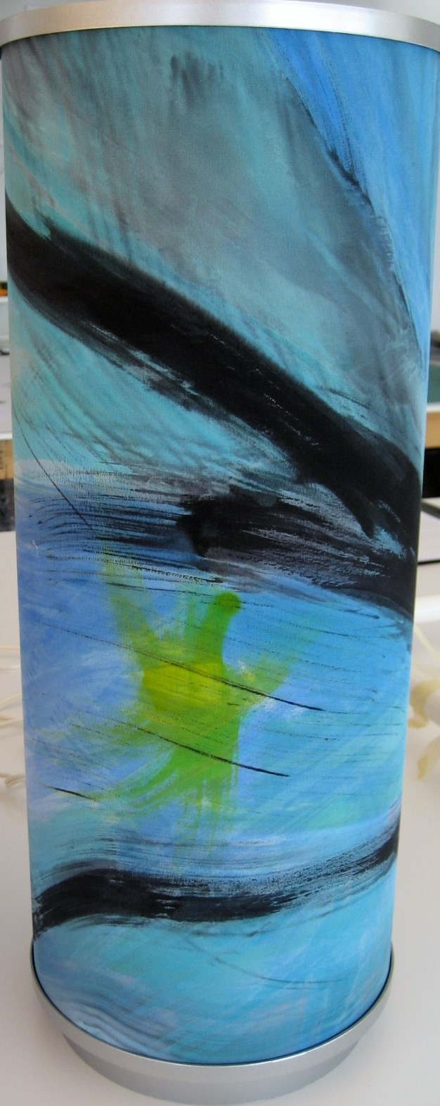 Blue, Black and Yellow Abstract Lamp  $140