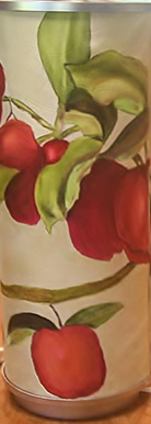 Red Apples Lamp  SOLD
